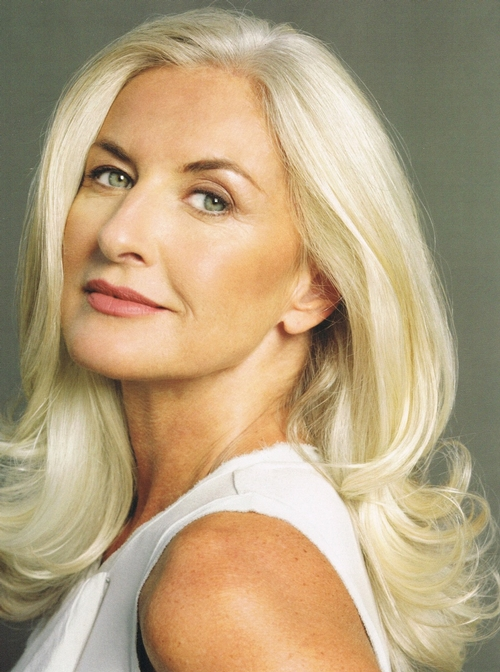Naturally Silver Hair Middle Aged Women