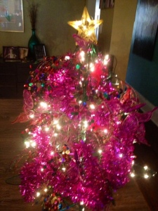 pink fake tree
