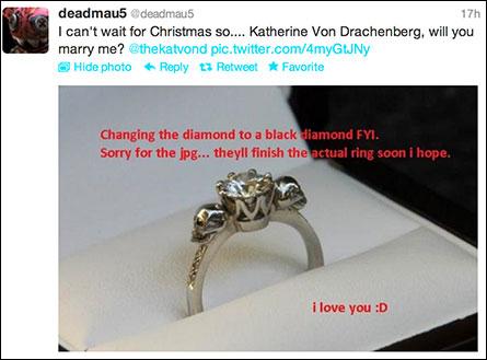 Tiny Diamond Engagement Ring